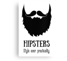 Hipsters - style over practicality Canvas Print