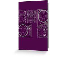 DJ Equipment Gear Greeting Card