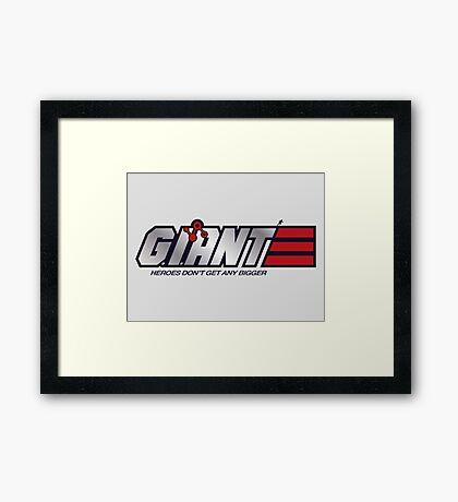 GI-Ant Hero Framed Print
