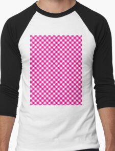 Pattern picnic tablecloth  Men's Baseball ¾ T-Shirt