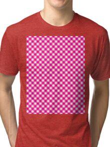 Pattern picnic tablecloth  Tri-blend T-Shirt