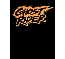 Ghost Rider - Classic Title - Clean Photographic Print