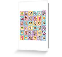 Set of animals 2 Greeting Card