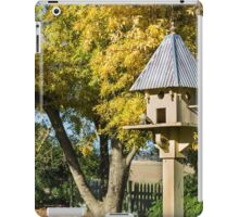 Country gardens with bird house iPad Case/Skin