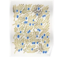 Olive Branches – Gold & Blue Poster