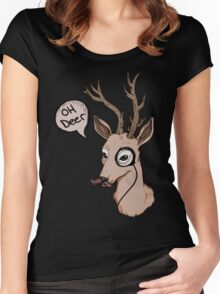Oh Deer Women's Fitted Scoop T-Shirt