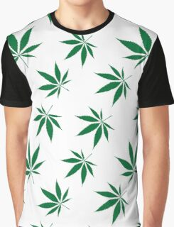 weed pattern large leaf Graphic T-Shirt