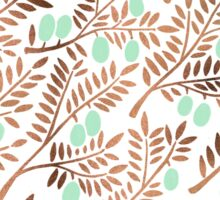 Olive Branches – Rose Gold & Mint Sticker