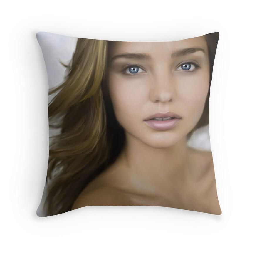 Miranda Kerr Throw Pillows Redbubble