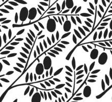 Black Olive Branches Sticker
