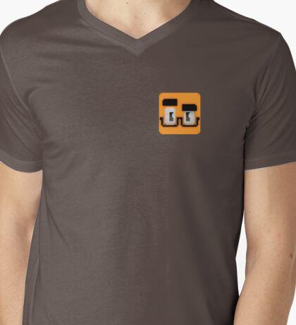 Quad Cube Mens V-Neck T-Shirt