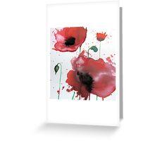 April Poppies 2 Greeting Card