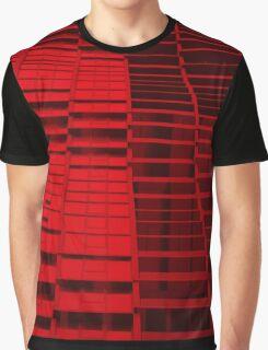 Red texture - skyscraper windows Graphic T-Shirt
