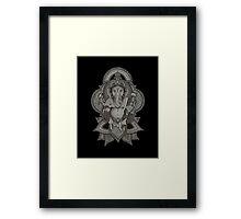 Ganesha - black Framed Print