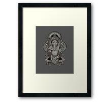 Ganesha - gray Framed Print