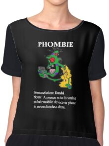 Phombie - Mobile Phone Zombie Chiffon Top