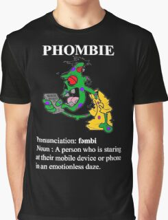 Phombie - Mobile Phone Zombie Graphic T-Shirt