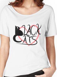Black Cat Love! Women's Relaxed Fit T-Shirt