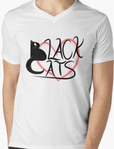 Black Cat Love! Mens V-Neck T-Shirt