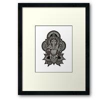 Ganesha - white Framed Print