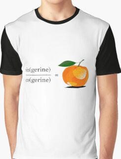 Maths Geek Joke - Tangerine Graphic T-Shirt