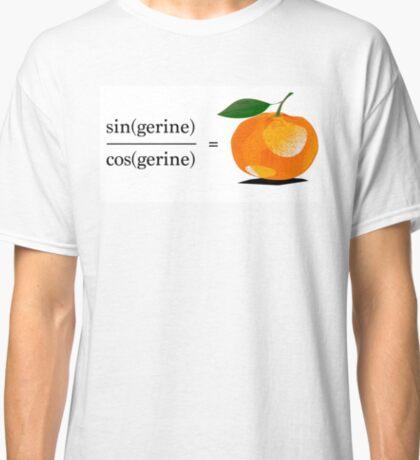 Maths Geek Joke - Tangerine Classic T-Shirt