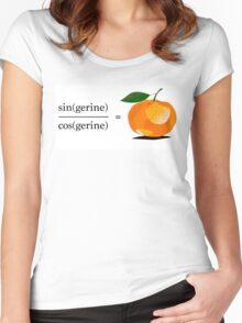 Maths Geek Joke - Tangerine Women's Fitted Scoop T-Shirt