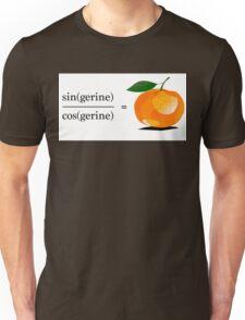 Maths Geek Joke - Tangerine Unisex T-Shirt