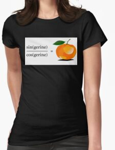 Maths Geek Joke - Tangerine Womens Fitted T-Shirt