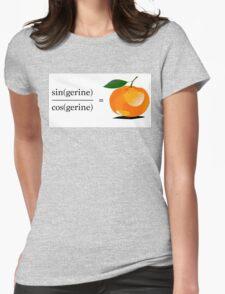 Maths Geek Joke - Tangerine Womens Fitted T-Shirt