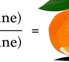 Maths Geek Joke - Tangerine Sticker