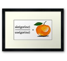 Maths Geek Joke - Tangerine Framed Print