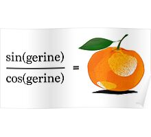 Maths Geek Joke - Tangerine Poster