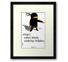 Geek Tee - CSS Jokes - Ninja Framed Print