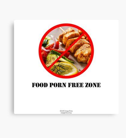 No To Food Porn Canvas Print