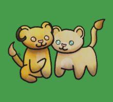 Cute Lion Couple Kids Tee