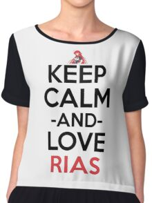 Keep Calm And Love Rias Anime Shirt Women's Chiffon Top