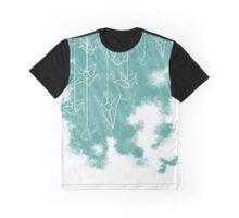 White Cranes ( Fade ) Graphic T-Shirt