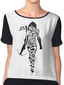 Hatred Must be Tempered by Discipline Chiffon Top
