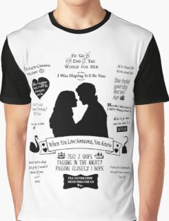 "Captain Swan ""Iconic Quotes"" Silhouette Design  Graphic T-Shirt"