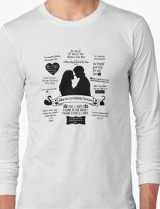 "Captain Swan ""Iconic Quotes"" Silhouette Design  Long Sleeve T-Shirt"