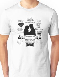 "Captain Swan ""Iconic Quotes"" Silhouette Design  Unisex T-Shirt"