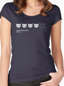 Meow Meow Beenz Level 4 Women's Fitted Scoop T-Shirt