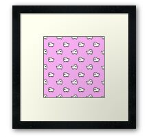 Undertale Annoying Dog - Pastel Pink Framed Print