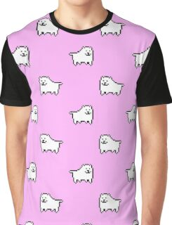 Undertale Annoying Dog - Pastel Pink Graphic T-Shirt