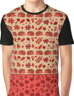 Hedgehogs in the Red Fall Graphic T-Shirt