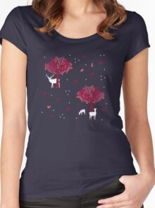 A Walk in the Forest Women's Fitted Scoop T-Shirt