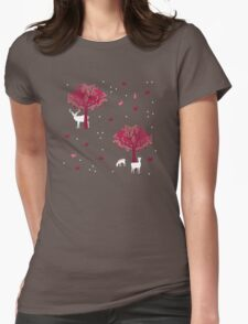 A Walk in the Forest Womens Fitted T-Shirt