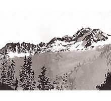 Sawtooth Mountains Photographic Print