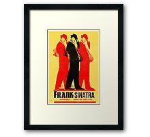 Frank Sinatra Letterpress Poster Framed Print